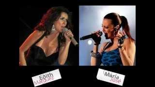 Edith Márquez & María José ♫ Cosas del amor ♫ (Letra)