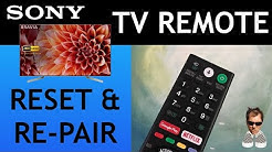 SONY TV Voice remote Reset / Re-pair FIX Bravia Android TV