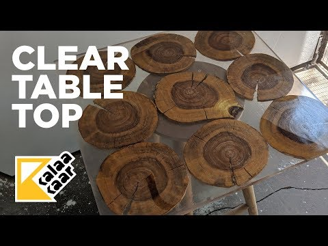 Clear Epoxy+Wood Table Top