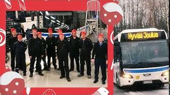 Vilkku-liikennöitsijämme Kuopion Liikenne toivottaa joulumieltä jokaiselle!