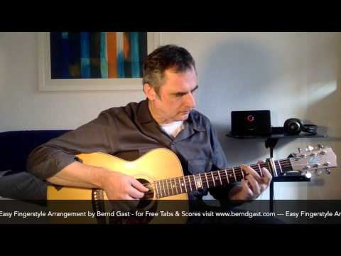 Stille Nacht. Silent Night. Easy Fingerstyle. Free Tabs & Scores. By Bernd Gast