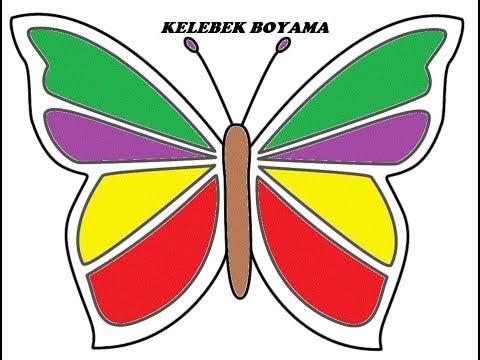 Renkli Kelebek Boyama Hayvan Boyama Colored Baby Dyeing
