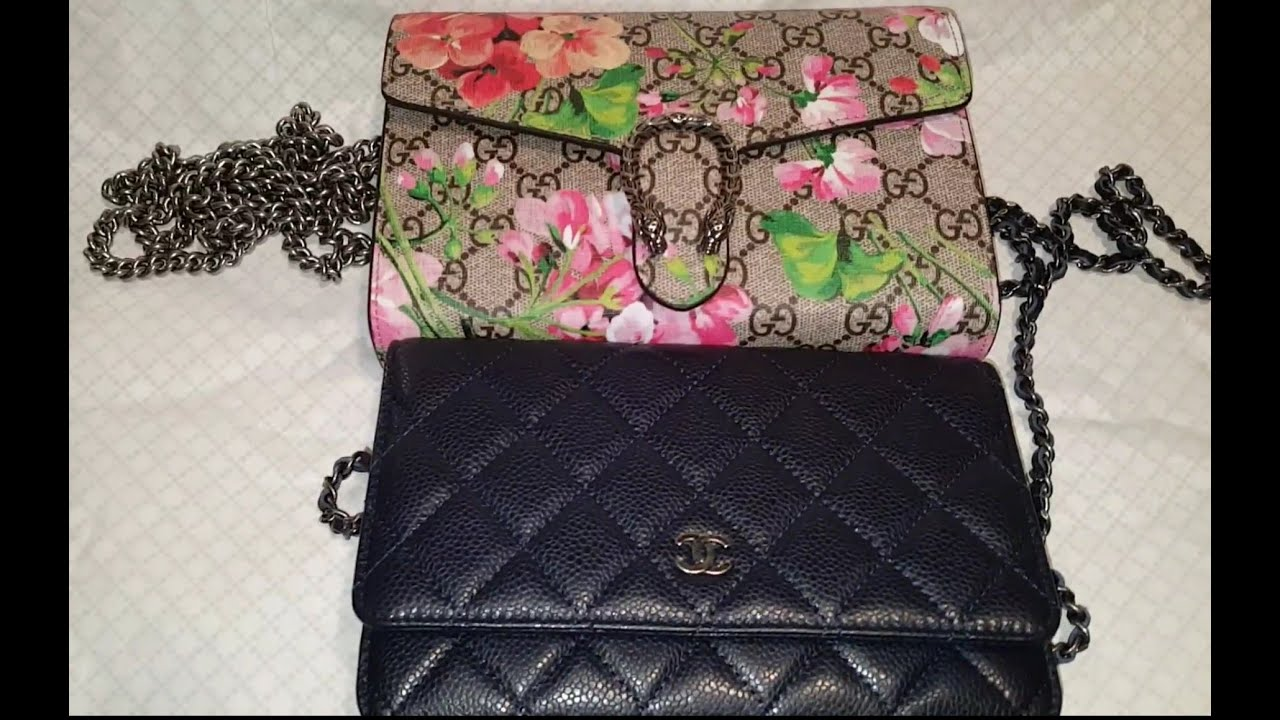 Gucci Dionysus Blooms wallet and Chanel WOC - YouTube 0b98345a31