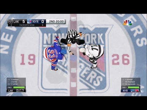 NHL 18 - New York Rangers vs Los Angeles Kings - Gameplay (HD) [1080p60FPS]