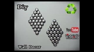 Diy. Wall Decor (Aluminum Cans) (recycling) Diy & Crafts with Mirna