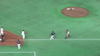 2017年6月3日セ・パ交流戦 読売ジャイアンツ vs オリックス・バッファローズ@東京ドーム 5回表オリックスの攻撃。4番中島のタイムリーで5-0と...