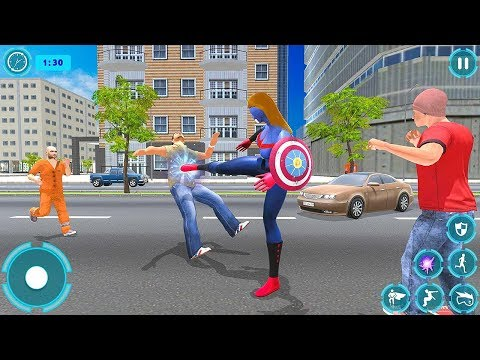 Flying Superhero Captain Girl (by Superheroz Action) Android Gameplay [HD] - 동영상