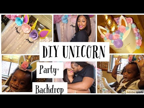 DIY UNICORN PARTY + BACKDROP FOR MY 1 YR OLD