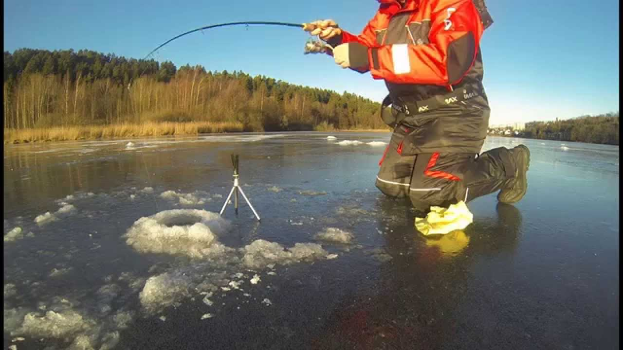 Pike fishing under Ice Oslo Norway