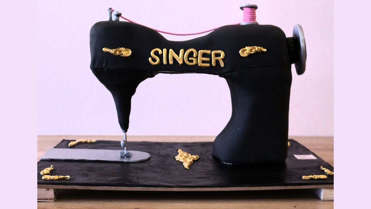 Download Cake Decorating Ideas / Sewing Machine Cake Tutorial step by step / Sugar Time by Sally