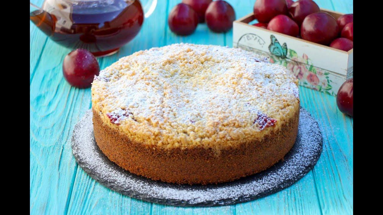 Маково-Сливовый Пирог с Крамблом ✧ Crumble Poppy Seeds Plum Cake