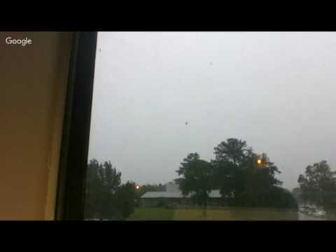 Hurricane Matthew From My Window Fayetteville NC