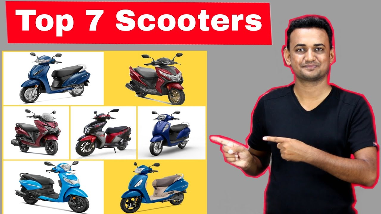 Top 7 Most Selling Scooters (Scooty) In India | 7 Scooters That Indian Loves The Most In June 2021