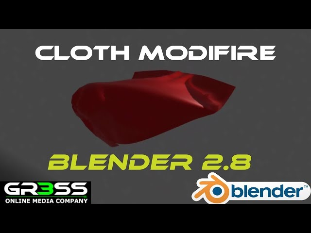 Blender 2.8 Tutorial Stoff | Cloth | Material Simulation erstellen.