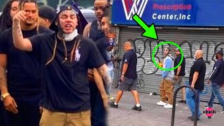 6ix9ine Caught By the OPPS on CAMERA *First Time Outside in NYC*