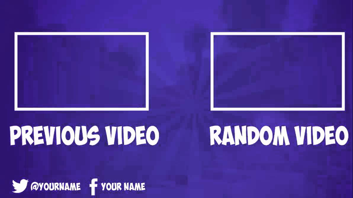 Youtube outro template free related keywords youtube for Blank outro template