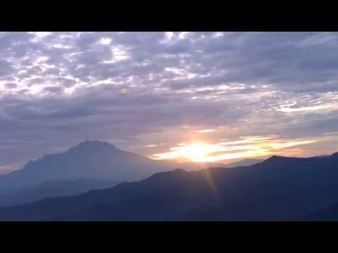 Sunrise with Mount Kota Kinabalu