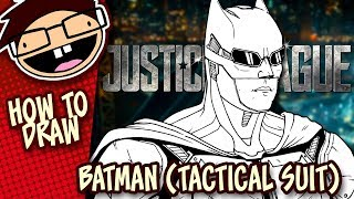 How to Draw TACTICAL SUIT BATMAN (Justice League) | Narrated Easy Step-by-Step Tutorial