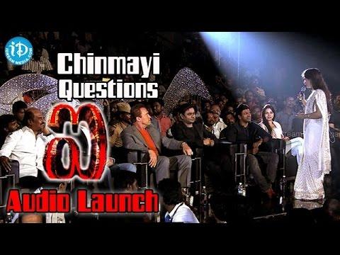 chinmayi-questions-to-rajinikanth,-shankar,-arnold,-rahman,-puneeth-rajkumar-@-i-movie-audio-launch