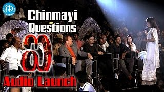 Chinmayi Questions to Rajinikanth, Shankar, Arnold, Rahman, Puneeth Rajkumar @ I Movie Audio Launch