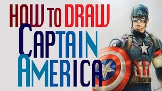 How to draw Captain America Chris Evans (Colored pencil)