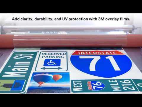 3M Digital Printing Solutions for Traffic Signage