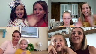 4 girls reunite after bonding as cancer survivors