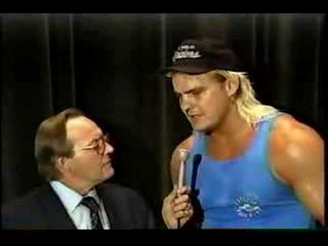 Gordon Solie / Barry Windham interview / blooper