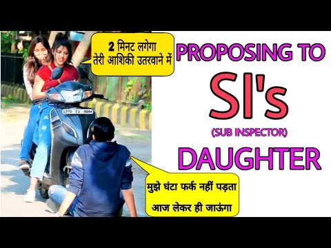 Proposing To SI's Daughter Prank || By Sumit Cool Dubey  ||Allahabad