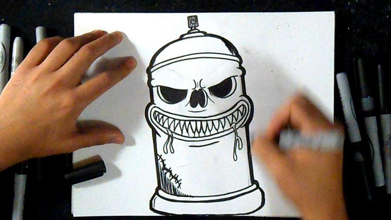 Cmo dibujar Lata de spray 5  Graffiti  YouTube