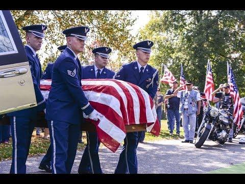 The burial of Vietnam MIA Major Louis Fulda Guillermin on 10/5/2013