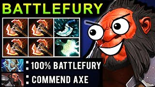 OMG BATTLEFURY AXE DOTA 2 PATCH 7.07 NEW META PRO GAMEPLAY