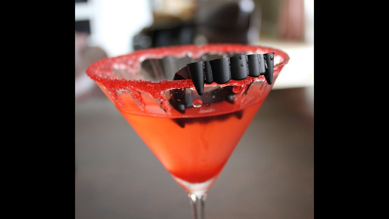 killer halloween party cocktail vampire kiss martini drink recipes youtube - Halloween Themed Alcoholic Shots