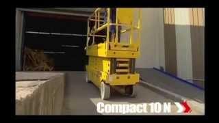 видео Hаulоttе Compact 8W, электрический ножничный подъемник