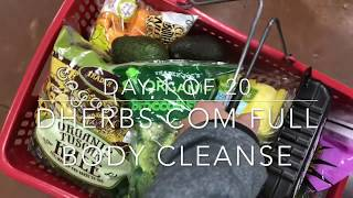 day 1 of 20 on my Dherbs full body cleanse