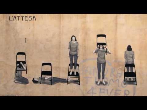 Street Art | HYURO - L'attesa - La espera | Memorie Urbane Street Art Festival 2013
