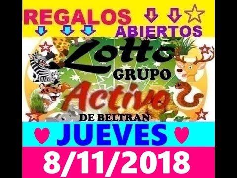 LOTTO ACTIVO Y LA GRANJITA DATOS FIJOS 8/11/2018