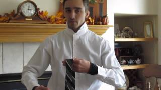 Tying a tie without putting it on
