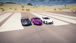 Forza Horizon 3 Hot Wheels TWIN MILL vs Pagani ZONDA R vs Zenvo ST1 Drag Race!