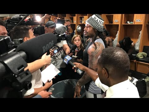 Marshawn Lynch TROLLS Reporters With TRASH CAN: Dont Cross My Barrier