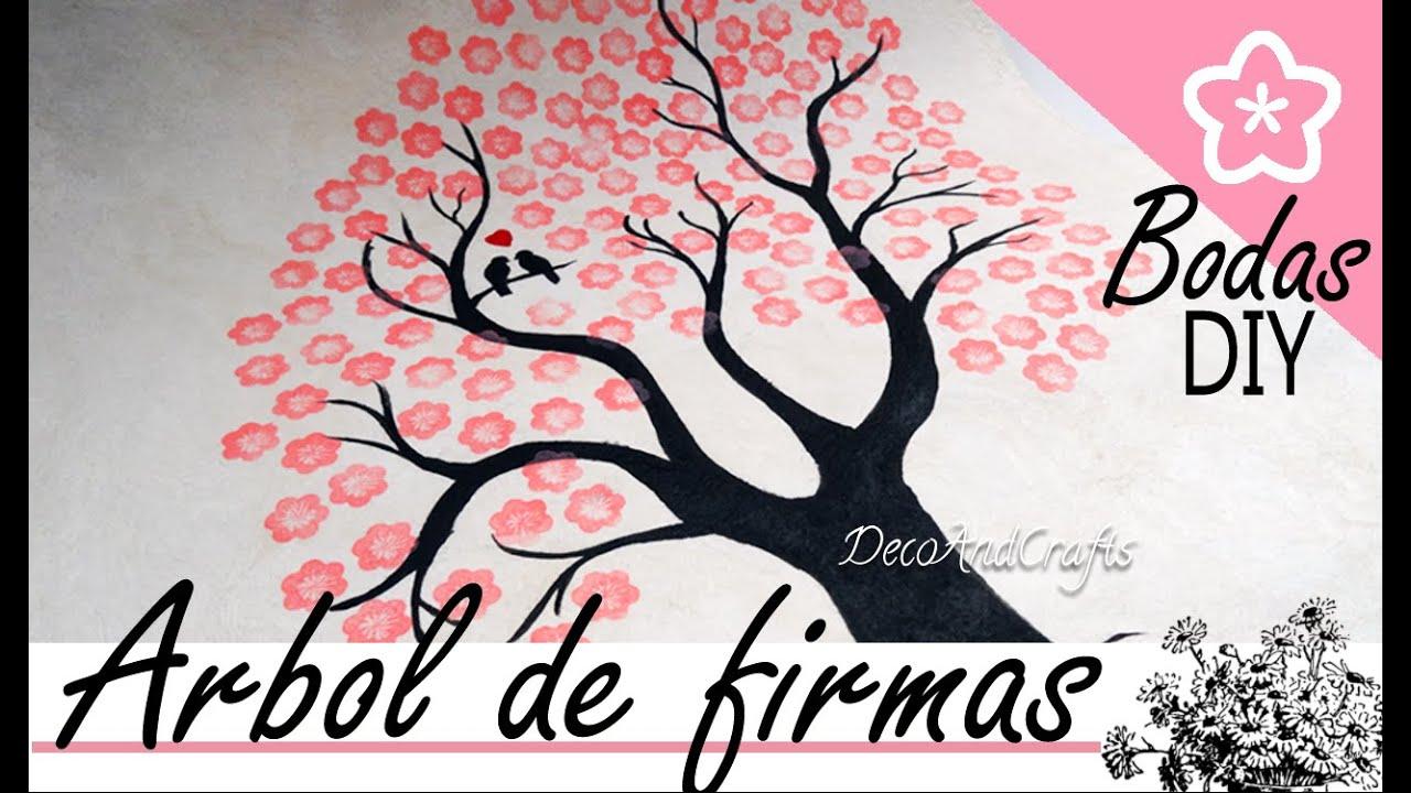 diy wedding arbol de firmas para boda wedding tree youtube