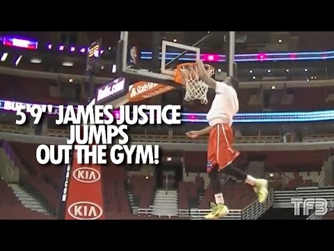 """5'9"""" James Justice Jumps OUT THE GYM! 2012 College Dunk Champion"""