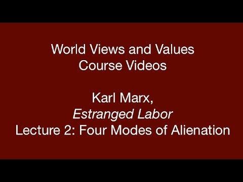an analysis of karl marxs estranged labor The united states of america is becoming more like nazi germany every single day in fact the nazification of america is almost an analysis of the topic of the estranged labor and the karl marxs early writing complete.