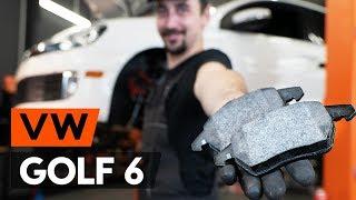 aizmugurē un priekšā Bremžu Kluči uzstādīšana VW GOLF VI (5K1): bezmaksas video