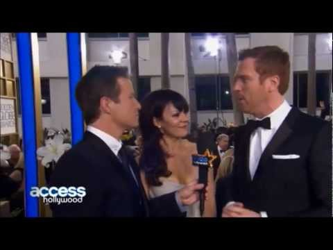 Golden Globes 2013  Damian Lewis And Helen McCrory Have A Good Laugh With Billy Bush