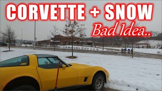 ABANDONED and BURNT Corvette - Attempting A 700 Mile Road Trip In Winter Storm