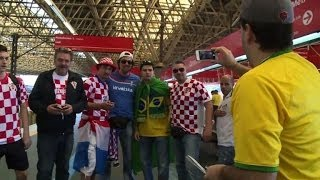 brazil croatia fans excited as tournament kicks off