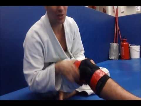 bdd23247b3 WWW.BJJONLINE.NET- Knee Tape Trick For ACL Protection - YouTube