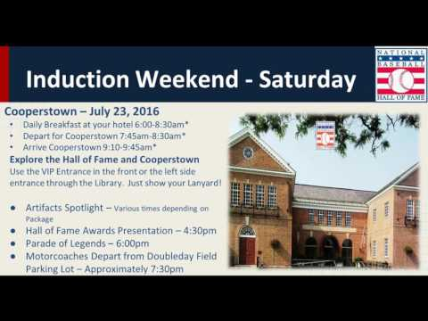 2016 Baseball Hall of Fame Induction Weekend Preview