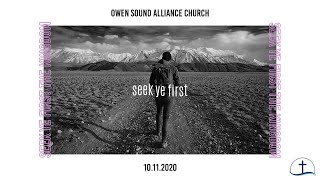 October 11th, 2020 Sunday Service // Owen Sound Alliance Church